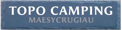 TOPO CAMPING | MAESYCRUGIAU | WALES Logo